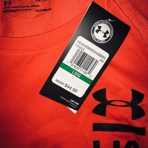Under Armour Shirts - Under Armour Deep Orange men's short sleeves sz LG
